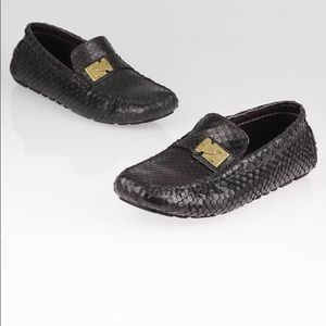 LOUIS VUITTON Cacao Anaconda Lombok Driving Loafer
